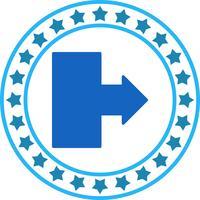 Icono de flecha hacia la derecha del vector