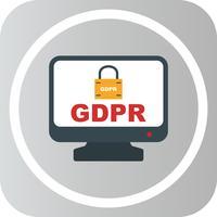 Vektor-GDPR-Sicherheitsschloss-Bildschirm-Symbol