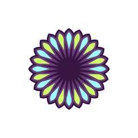 Stern-Blumen-dekoratives Zeichen Logo Template Illustration Design. Vektor EPS 10.