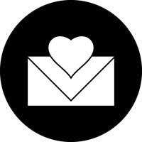 Vektor Liebesbrief-Symbol