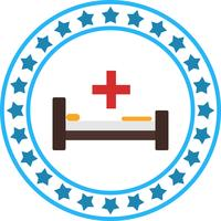 Vector Hospiatl Bed Icon