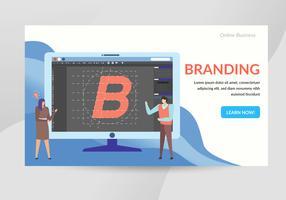 Illustrazione di carattere concetto di branding