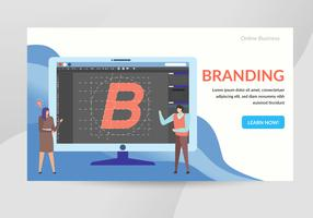 Branding Concept Karakter Illustratie