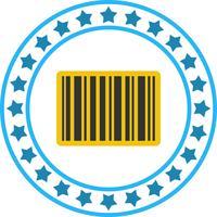 Vector icono de código de barras