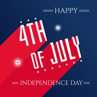 Independence Day Typographic Vector