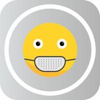 Vector Medical Mask Emoji ícone