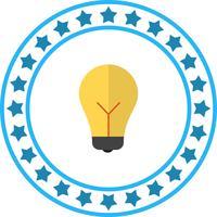 Ícone de lâmpada de vetor