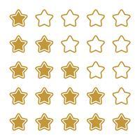 Disegno dell'illustrazione del modello di valutazione della linea della stella. Vettore ENV 10.