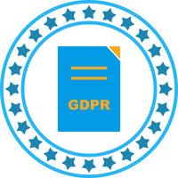Vector GDPR icono de documento