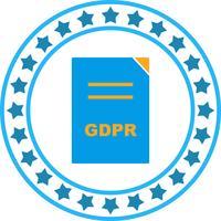 Vektor GDPR Dokument Ikon