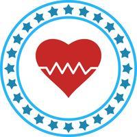 Icona del battito cardiaco di vettore