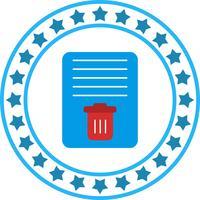 vektor dokument papperskorgen ikon