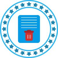 Vector icono de papelera de documentos
