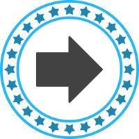 Vektor högerpil ikon