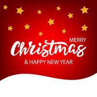 Weihnachtsbeschriftung auf hellem Hintergrund