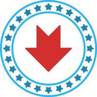 Vector icono de flecha hacia abajo