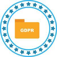 Vektor-GDPR-Ordner-Symbol
