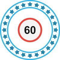Icono de Vector Speed Limit 60