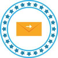 Vector vooruit brief pictogram