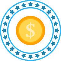 Icona di moneta di vettore Dollor