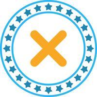 Icono de la cruz del vector