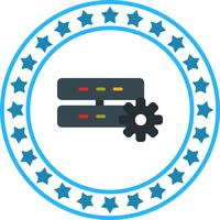 Icono de configuración del servidor de vectores