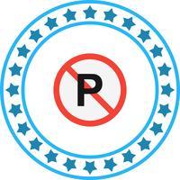 Vektor kein Parkplatz-Symbol