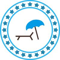 Vector Beach Ombrello and Chair Icon