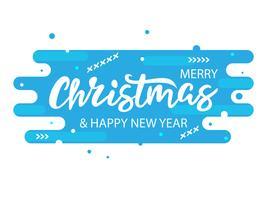 Bannière bleue moderne de Noël
