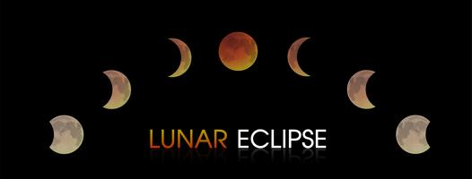 Lunar Eclipse of the Moon.