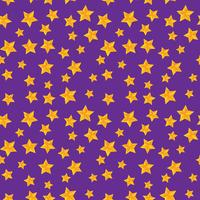 Vector seamless pattern with golden stars
