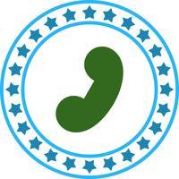Vector icono de teléfono Reciver