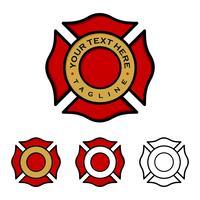 Conception d'illustration emblème pompiers. Vecteur EPS 10.