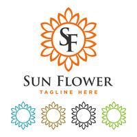 Blossom Flower Border Template Illustration Design. Vector EPS 10.