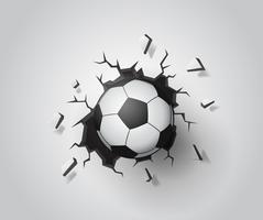 Football on the wall broken.