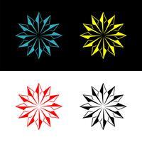 Star Arrow Circle Ornamental Logo Template Illustration Design. Vector EPS 10.
