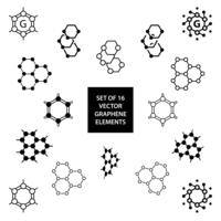 Set of graphene vector design elements