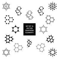 Set av grafen vektor designelement