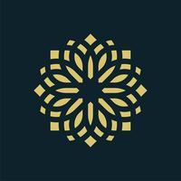 Stern-Blumen-dekoratives Piktogramm Logo Template Illustration Design. Vektor EPS 10.