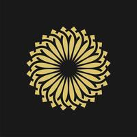 Conception d'illustration de modèle de logo de fleur de soleil d'or. Vecteur EPS 10.