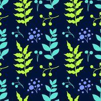 Botanical hand drawn pattern