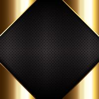 Gold metal on perforated metallic texture