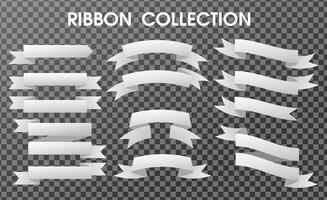 The banner ribbon collection is empty. Separate components on a transparent background. vector