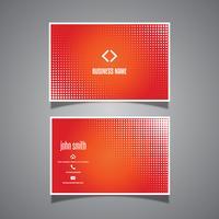 Cartão de visita com design de pontos de meio-tom