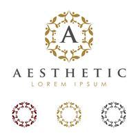 Cadre abstrait fleur Logo Template Illustration Design. Vecteur EPS 10.