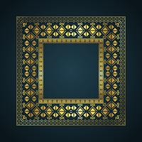 Aztec style border background vector