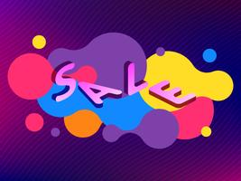 Vector abstract isometric sale banner