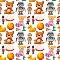 Seamless pattern of toys