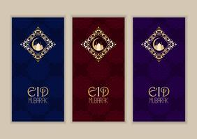 Elegant banner collection for Eid Mubarak