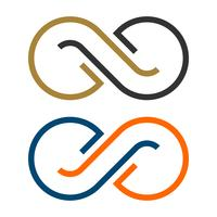 Segno di infinito di pittogramma - progettazione dell'illustrazione del modello di logo. Vettore ENV 10.
